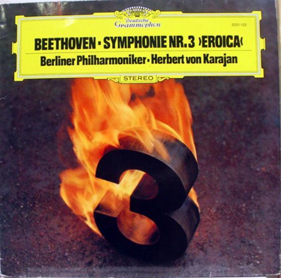 Herbert von Karajan - Karajan Beethoven Symphony No 3 Eroica Lp Vg+ 2531 103 German 1977 (beethoven Symphony No 3 Eroica)