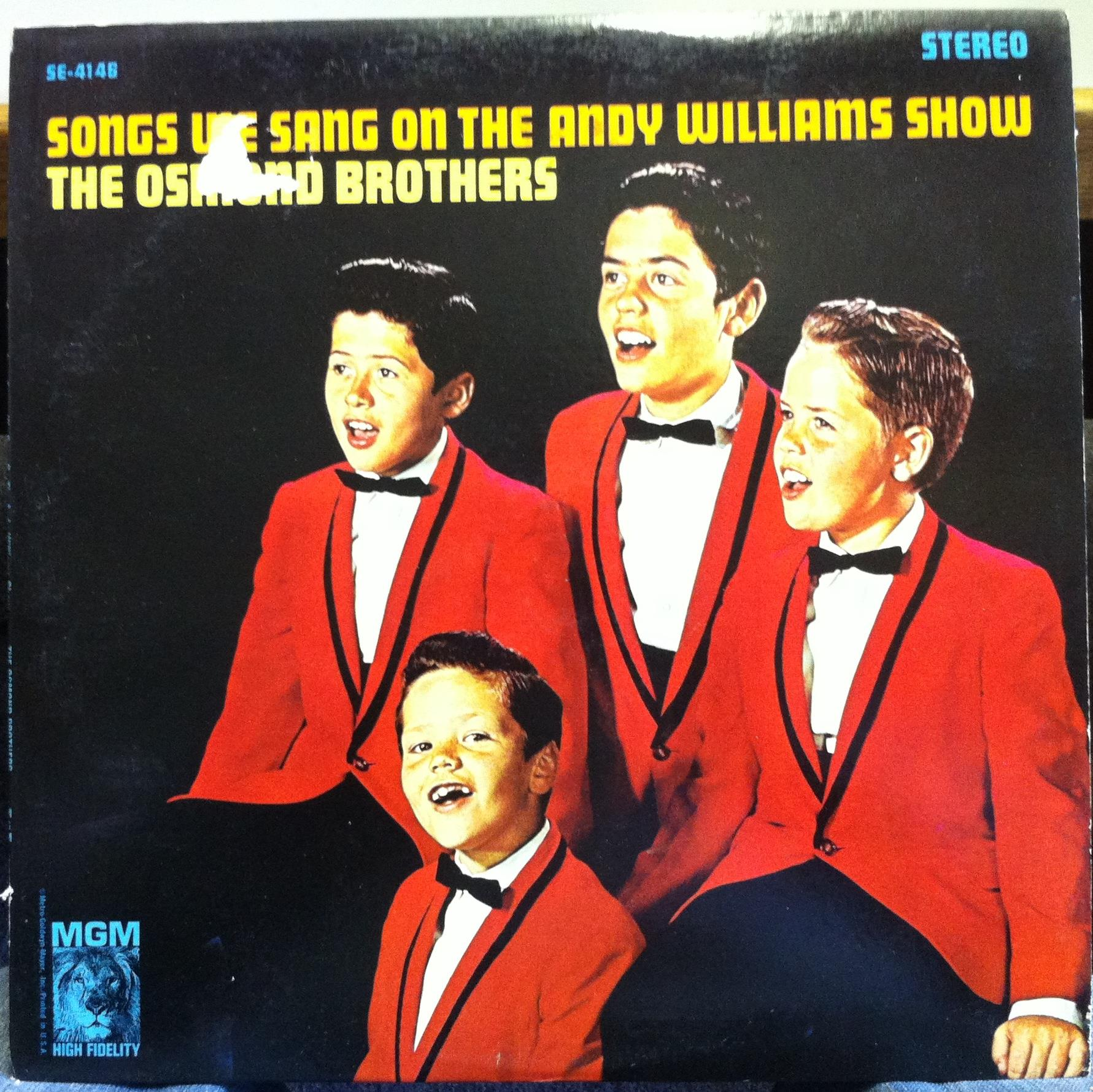 OSMOND BROTHERS - The Osmond Brothers Songs We Sang On The Andy Williams Show Lp Vg+ Se-4146 (songs We Sang On The And