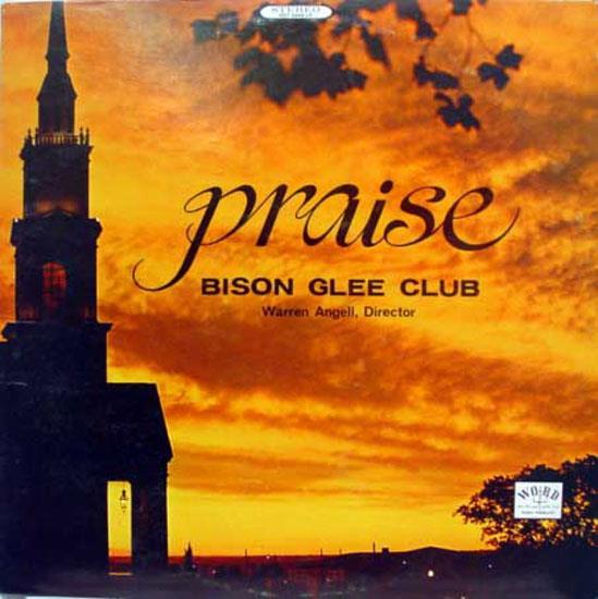 ANGELL - Angell Praise Bison Glee Club Lp Vg+ Wst 8444 Vinyl Record (praise Bison Glee Club)