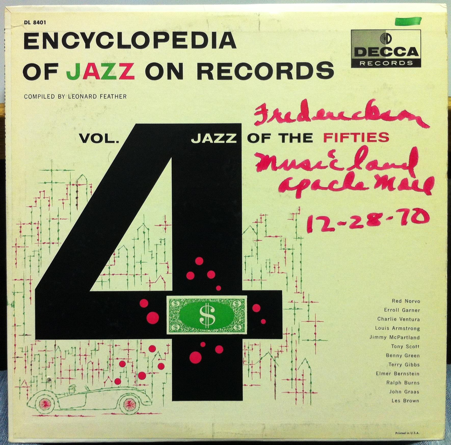 LEONARD FEATHER - Encyclopedia Of Jazz On Records