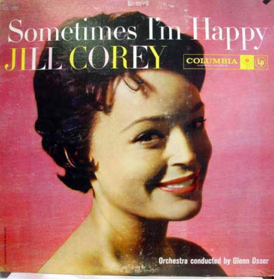 Jill Corey Sometimes I'm Happy Sometimes I'm Blue Lp Vg Cl 1095 Mono 1957 Usa