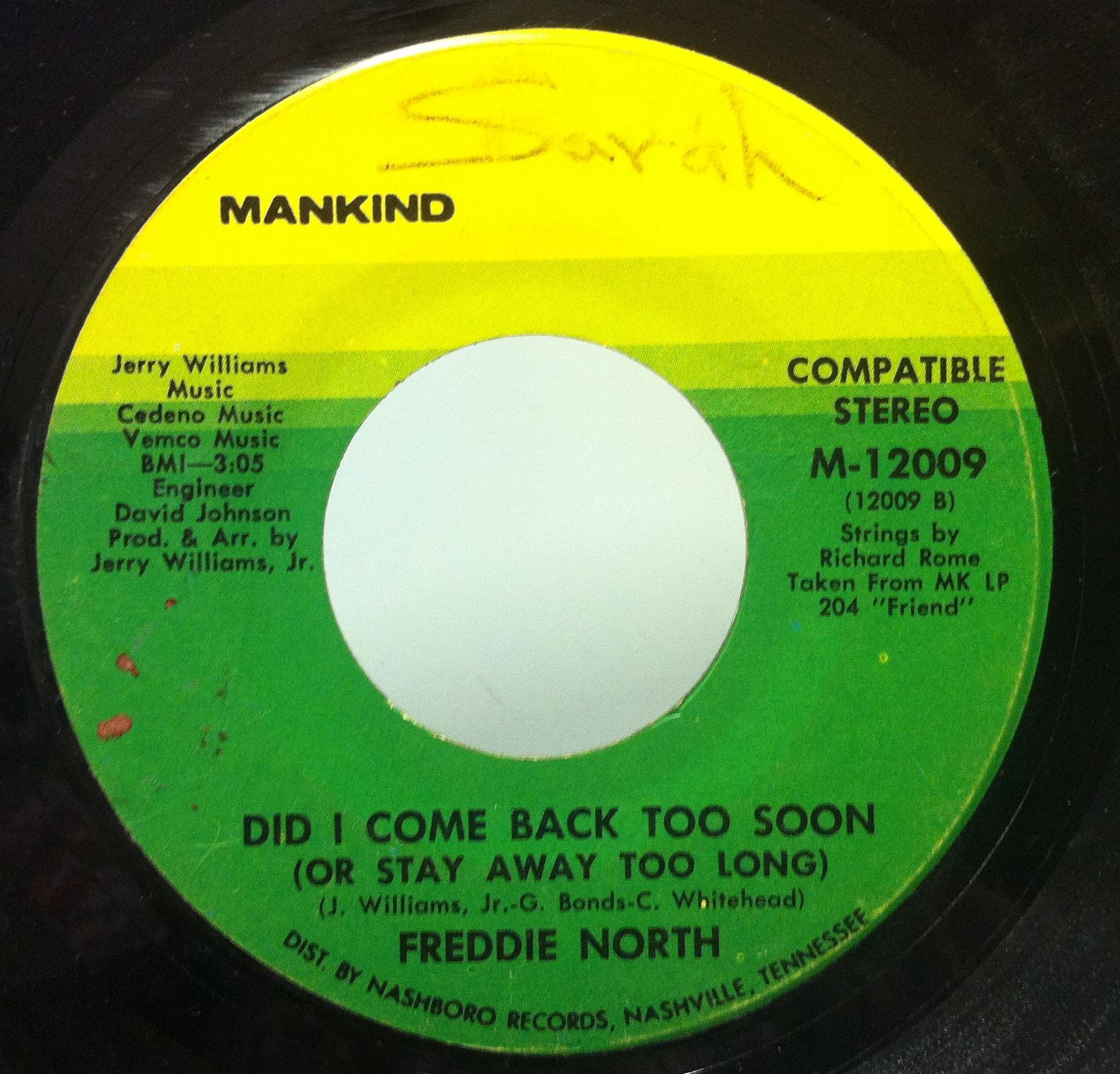 Freddie North Cuss The Wind