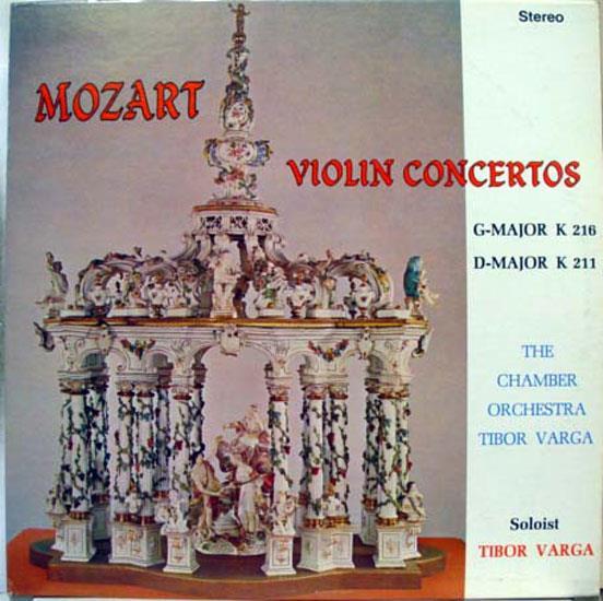 TIBOR VARGA - Tibor Varga Mozart Violin Concertos Lp Vg+ C-813 Vinyl Mono Usa Record (mozart Violin Concertos)