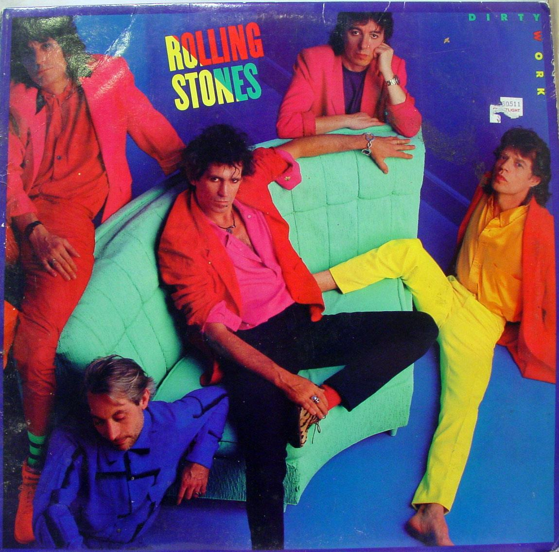 Rolling Stones - The Rolling Stones Dirty Work Lp Vg Oc 40250 Bob Ludwig Rl Mastered Usa 1986 (dirty Work)