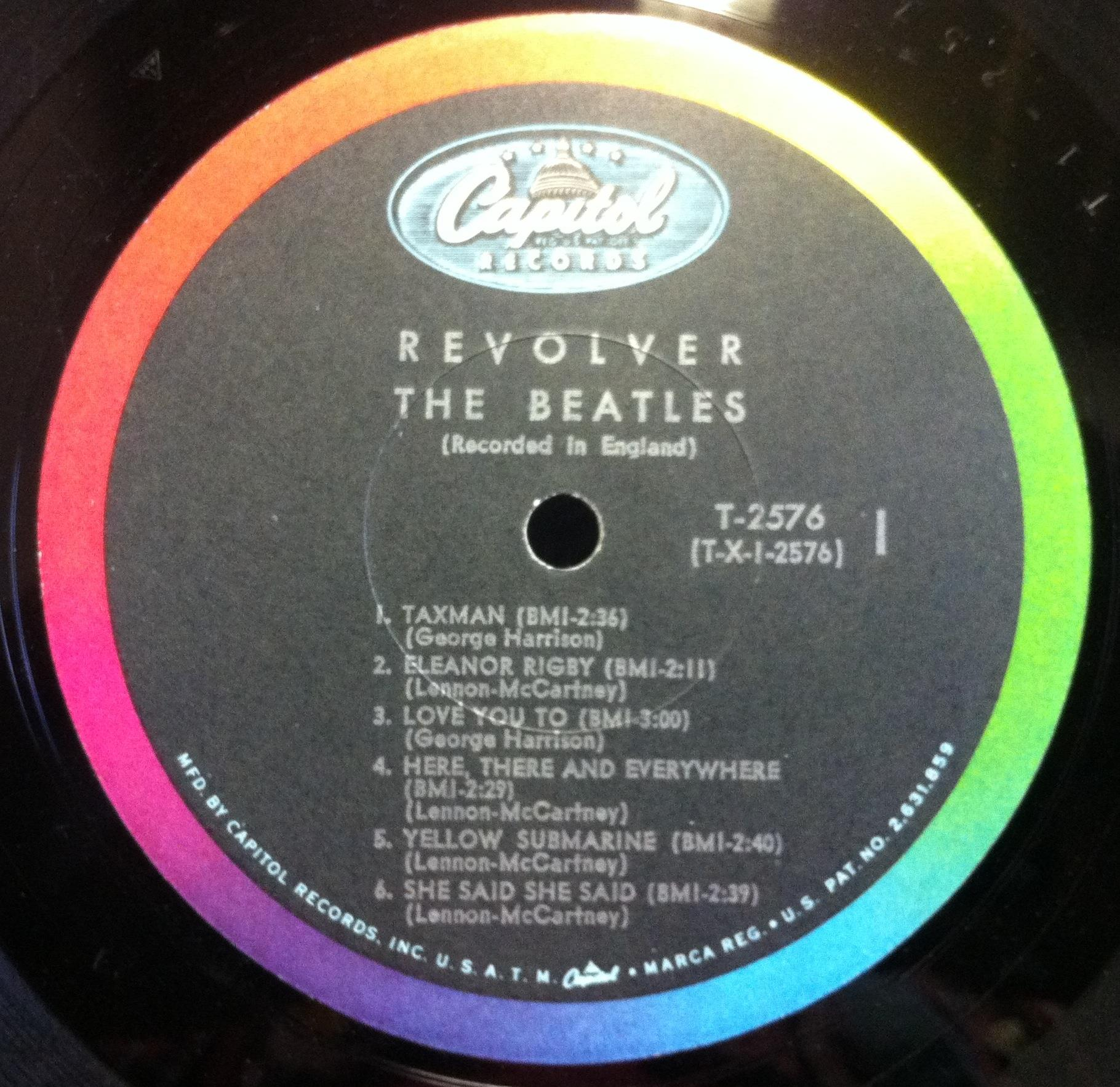 The Beatles Revolver Lp Vg T 2576 Capitol Mono 1966 Usa