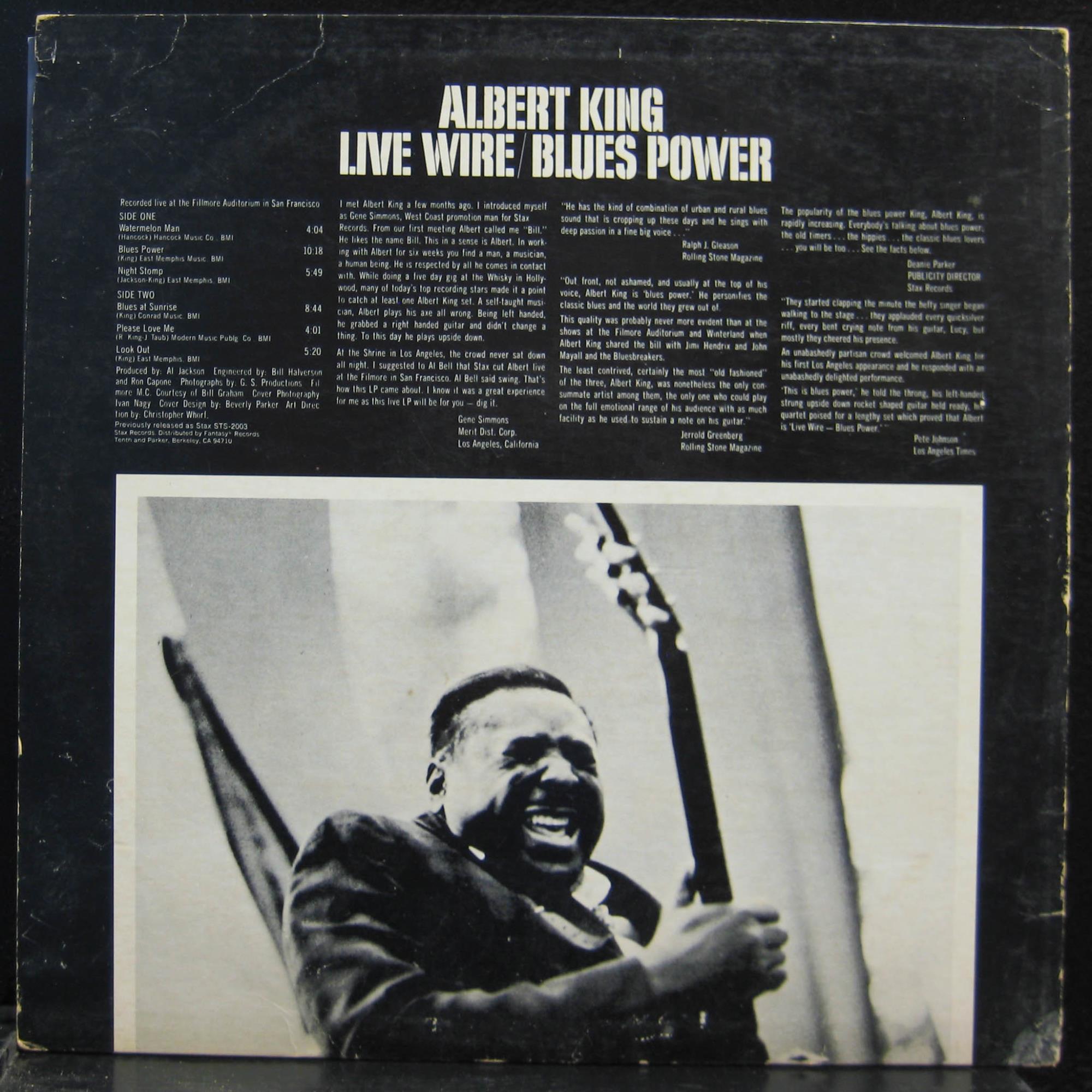 ALBERT KING live wire / blues power LP VG STX 4128 Vinyl 1968 ...