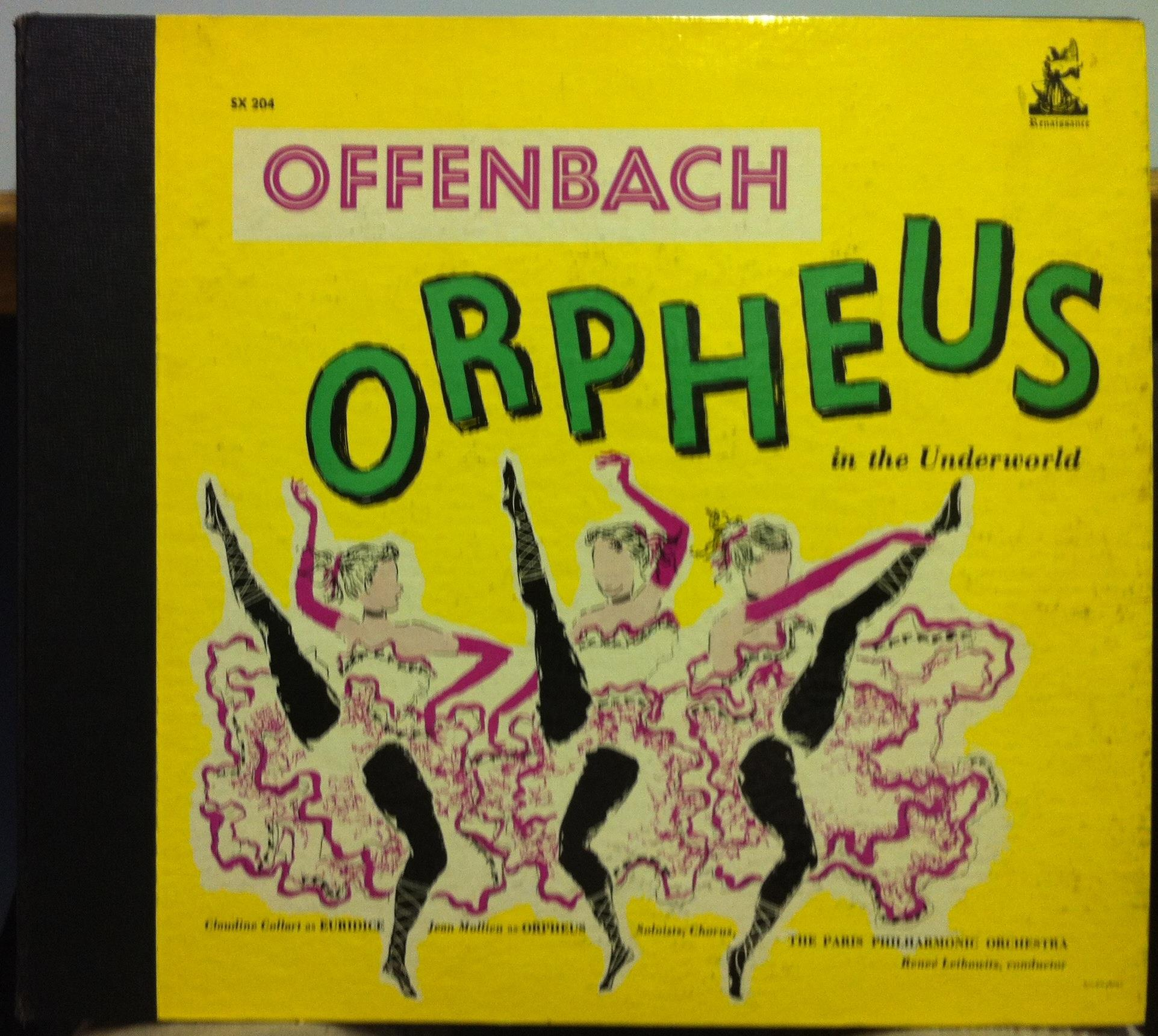 1952 ed1 mono w book renee leibowitz offenbach orpheus 2 for Hs offenbach