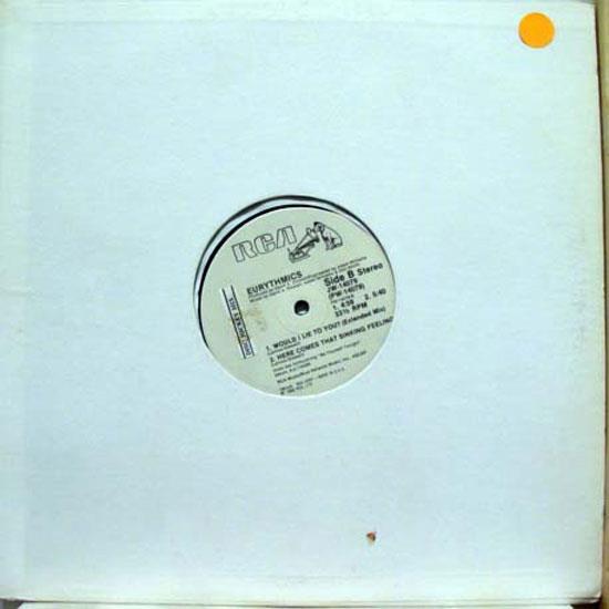 "EURYTHMICS - Eurythmics Would I Lie To You 12"" Vg+ Jw 14079 Vinyl 1985 Record (would I Lie To You)"