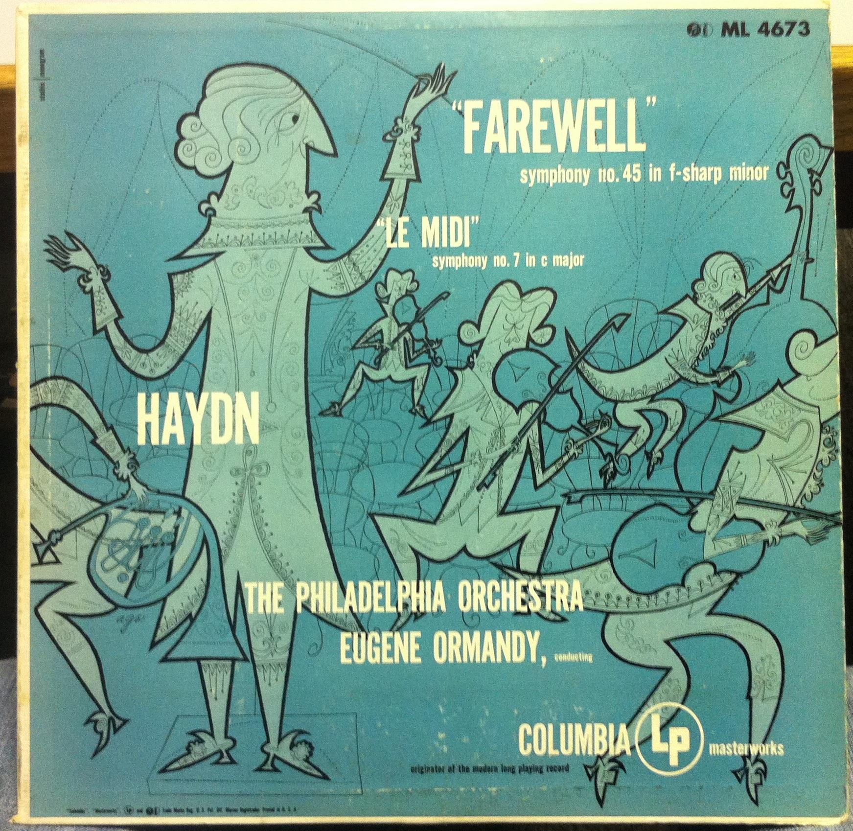 1953 Usa Ed1 Ormandy Haydn Farewell And Le Midi Lp Vg Ml 4673 Stathis Record