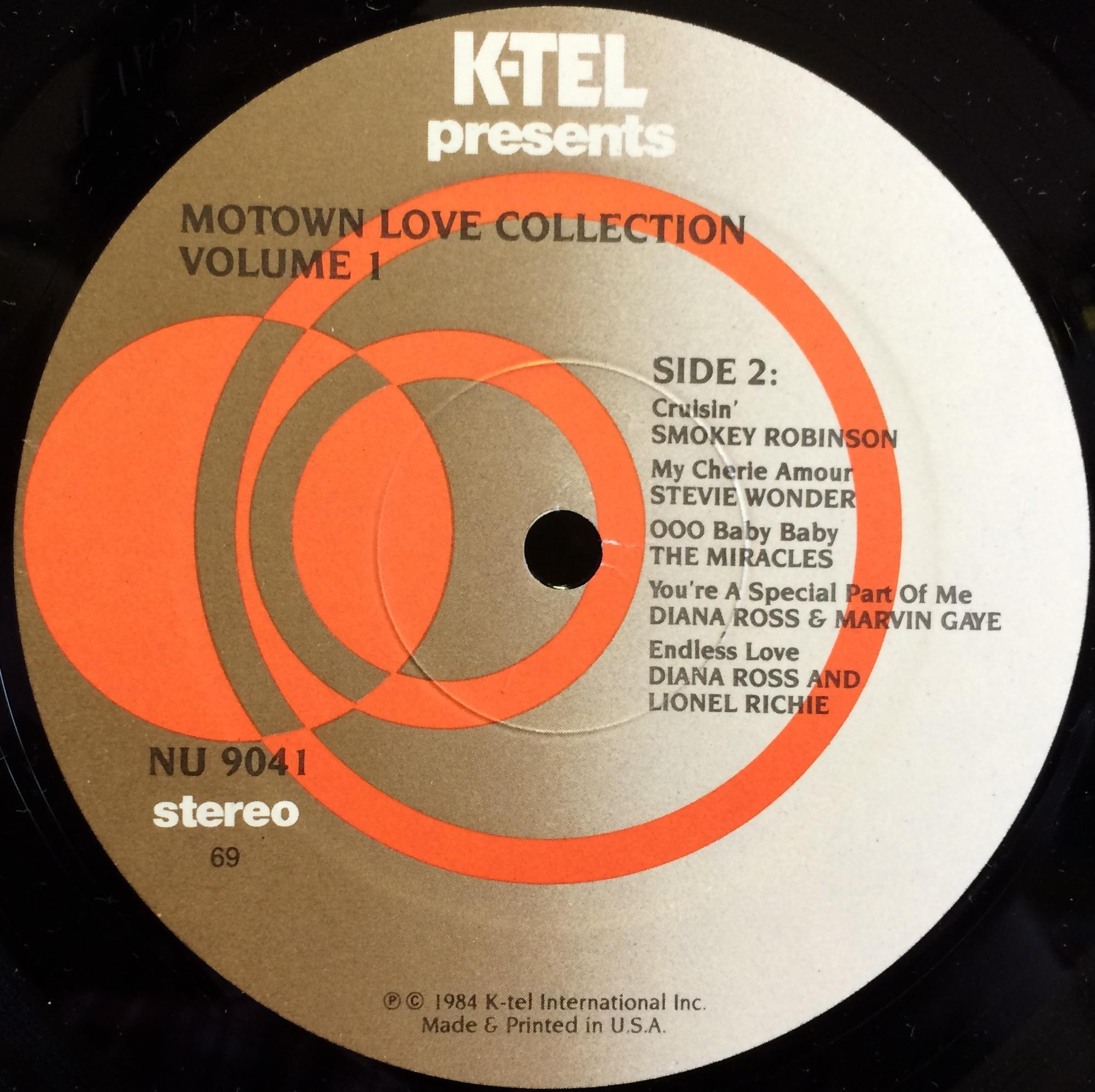 K-Tel Soul Comp - K-tel Soul Comp Motown Love Collection Vol 1 Lp Vg+ Nu 9041 Vinyl 1984 Record (motown Love Collectio
