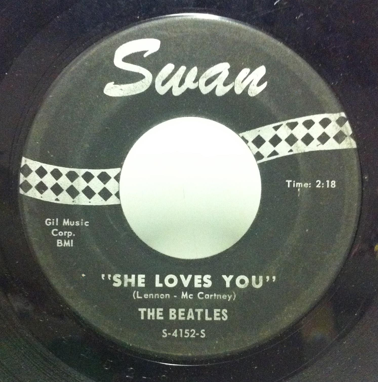 "Beatles - The Beatles She Loves You / I'll Get You 7"" Vg+ S-4152 Swan 1964 Mono Usa (she Loves You / I'll"