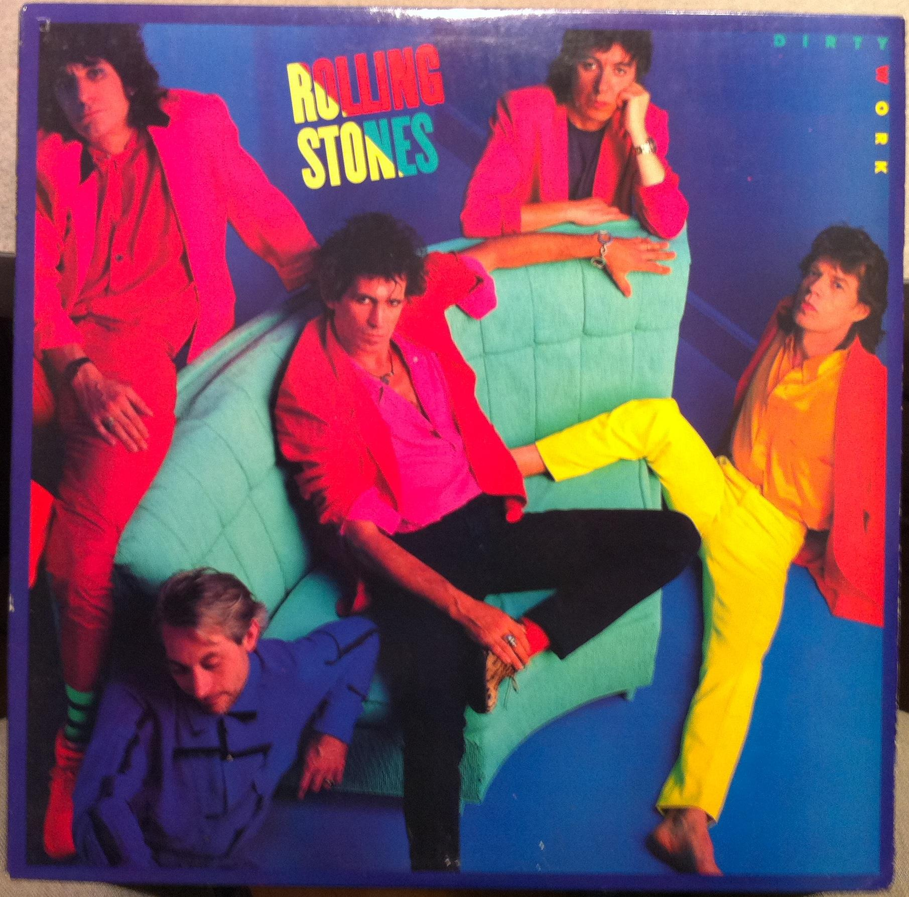 Rolling Stones - The Rolling Stones Dirty Work Lp Mint- Oc 40250 Bob Ludwig Rl Mastered Usa 1986 (dirty Work)