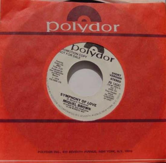 MIQUEL BROWN - Symphony Of Love Vinyl