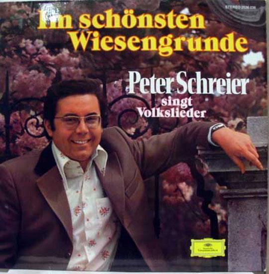 PETER SCHREIER - Peter Schreier I'm Schonsten Wiesengrunde Lp Mint- 2536 036 Vinyl 1974 Record (im Schonsten Wiesengr