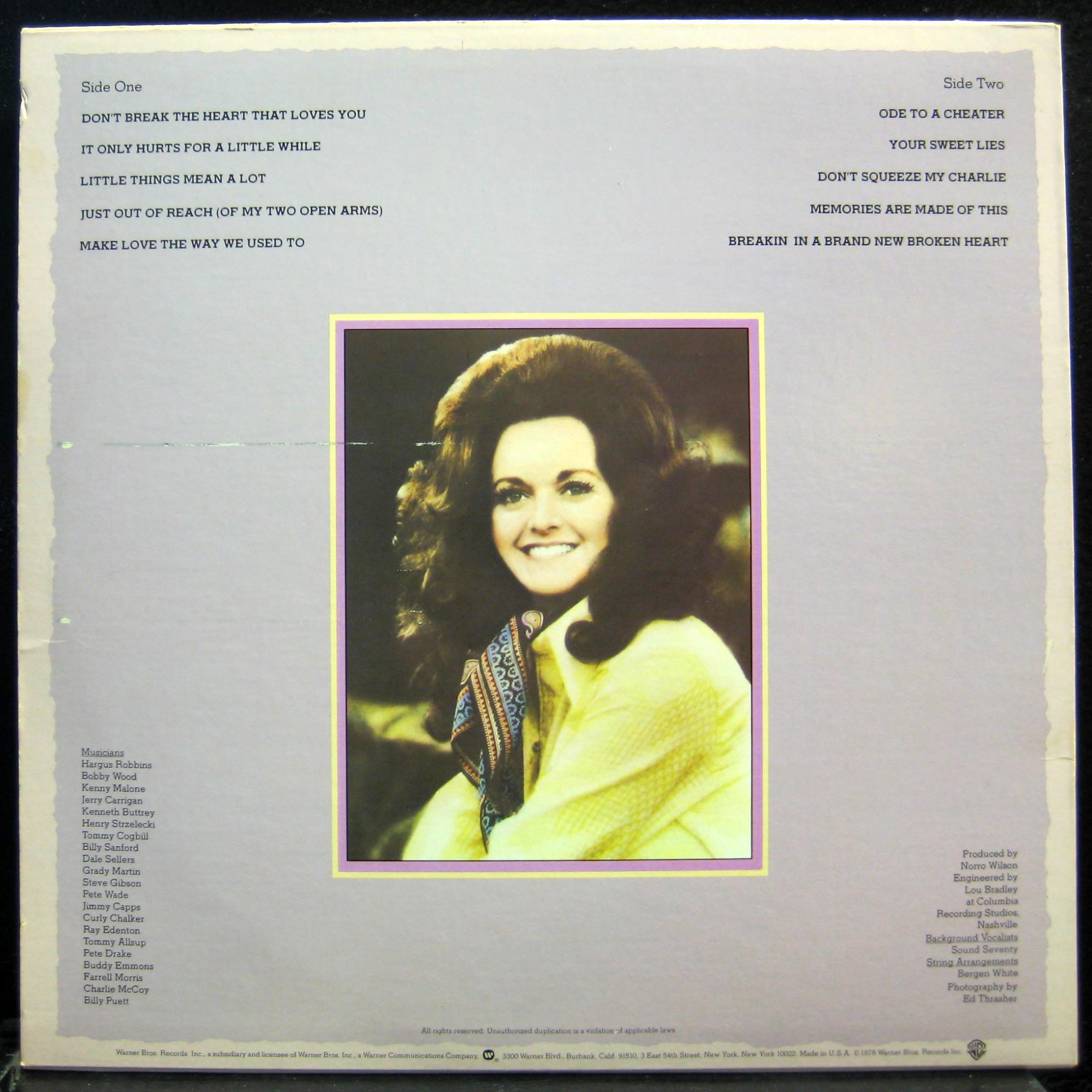 Dont Break The Heart That Loves You By Margo Smith Lp With