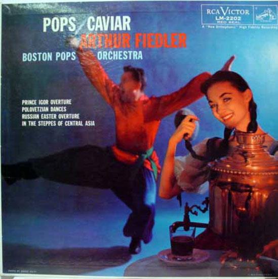 Arthur Fiedler - Fiedler Pops Caviar Lp Vg Lm-2202 Mono Usa Rca Plum Sd 1958 Borodin 2nd Cover (pops Caviar)