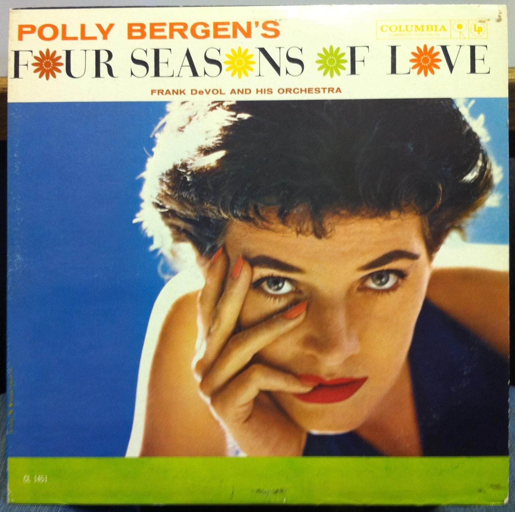 POLLY BERGEN - Polly Bergen Four Seasons Of Love Lp Vg+ Cl 1451 Record 1960 1b/1b 6 Eye (four Seasons Of Love)