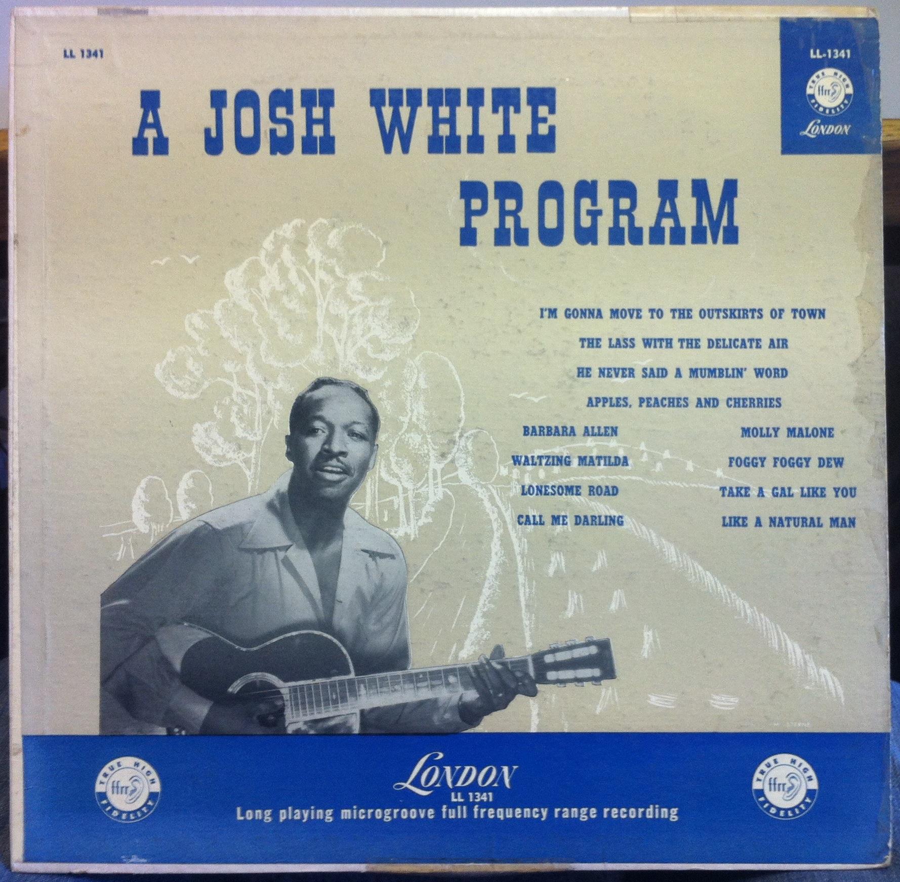 JOSH WHITE - Josh White The Program Lp Vg Ll 1341 Uk Ffrr Mono 1956 Folk (the Program)