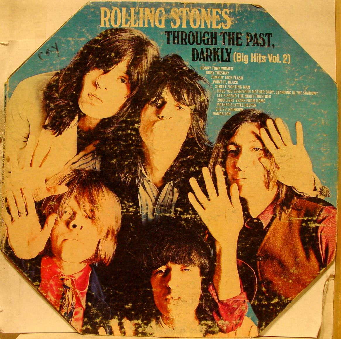 ROLLING STONES - Rolling Stones Through The Past Darkly Lp Vg Nps-3 Bell Sound 1969 Record (through The Past Darkly)