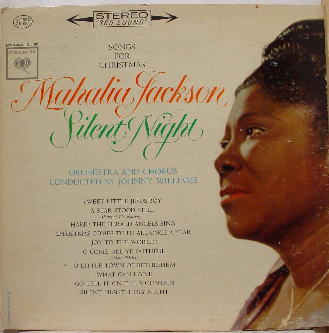 6 Eye Stereo Mahalia Jackson Silent Night Songs For Christmas Lp Vg Cs 8703