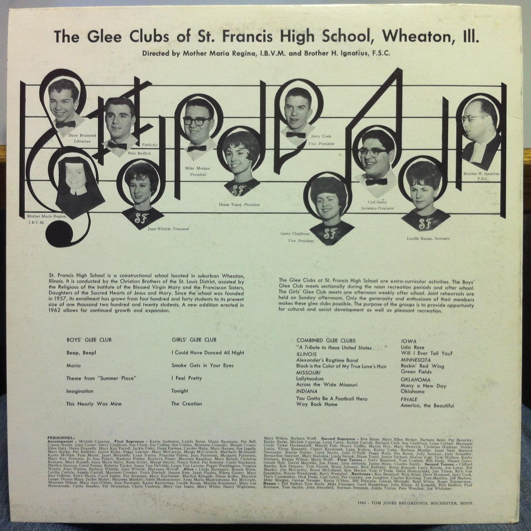 St Francis High School Glee Club Springtime America Lp