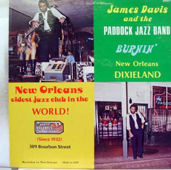 James Davis Paddock Loung Band Burnin' New Orleans Lp Mint