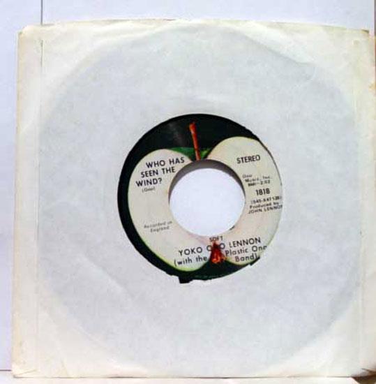 """John Lennon & Yoko Ono Plastic Band - John Lennon & Yoko Ono Plastic Band Instant Karma/who Has Seen The Wind 7"""" Vg 45 (instant K"""