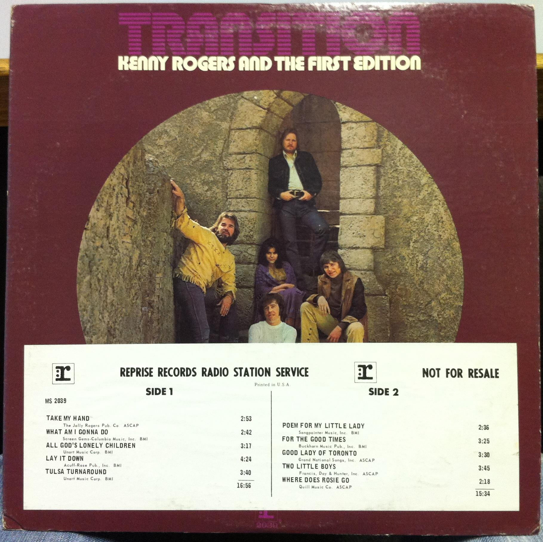 KENNY ROGERS & THE FIRST EDITION transition LP Mint- WL ...