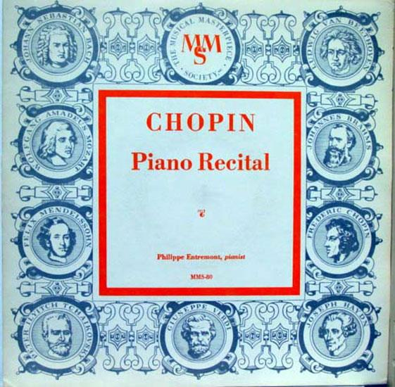 10quot Rare Mono Philippe Entremont Chopin Piano Recital Lp Mint Mms 80 chopin Piano Recital