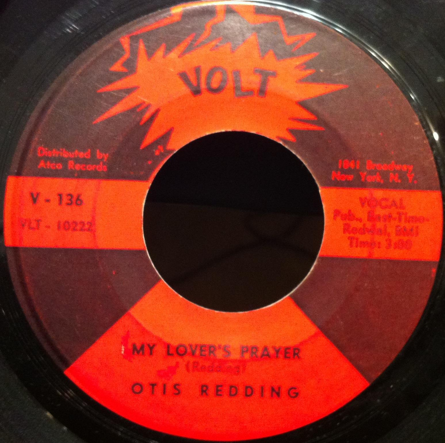 "OTIS REDDING - Otis Redding My Lover's Prayer - Don't Mess With Cupid 7"" Vg Volt V 136 Vinyl (my Lover's Praye"