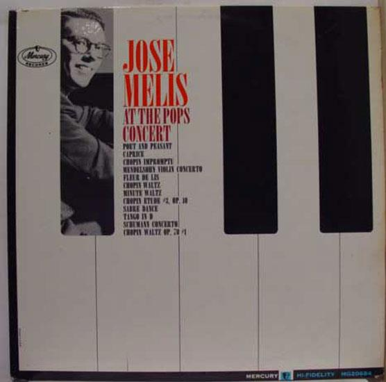 JOSE MELIS - Jose Melis At The Pops Concert Lp Mint- Mg 20684 Vinyl Record (at The Pops Concert)