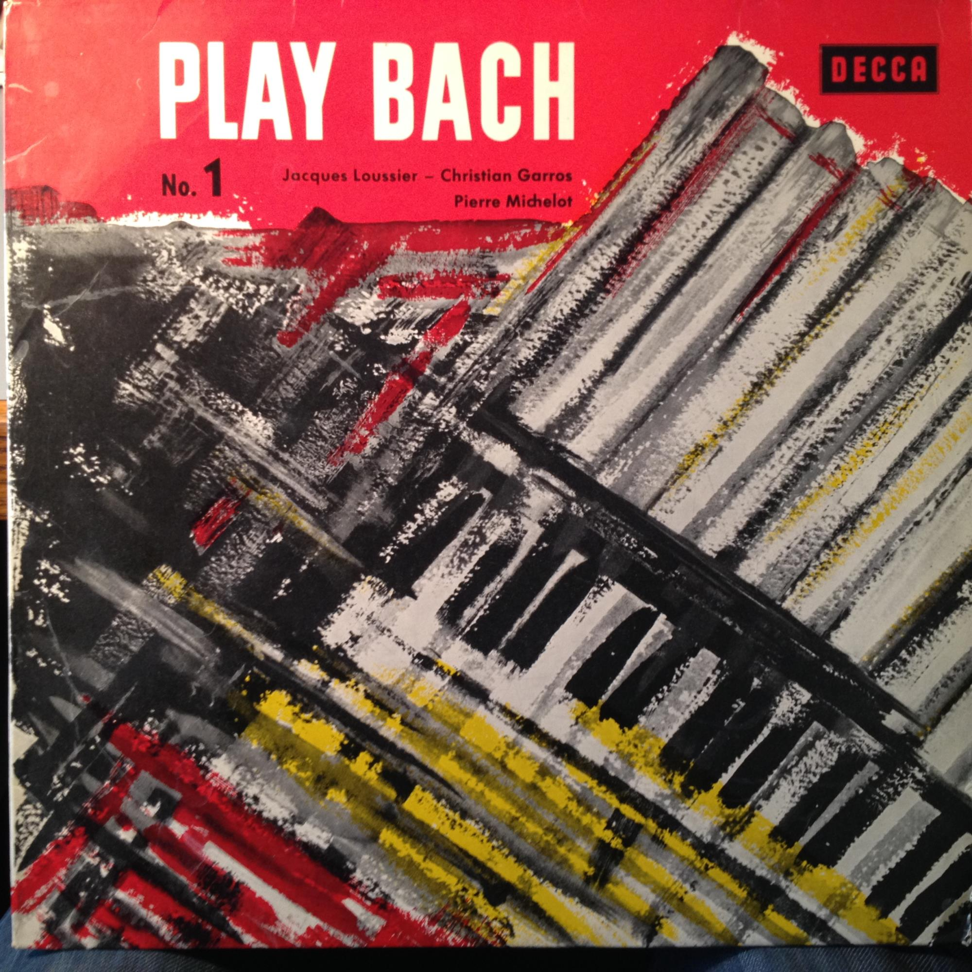 Play Bach No 1 By Jacques Loussier Trio Lp With