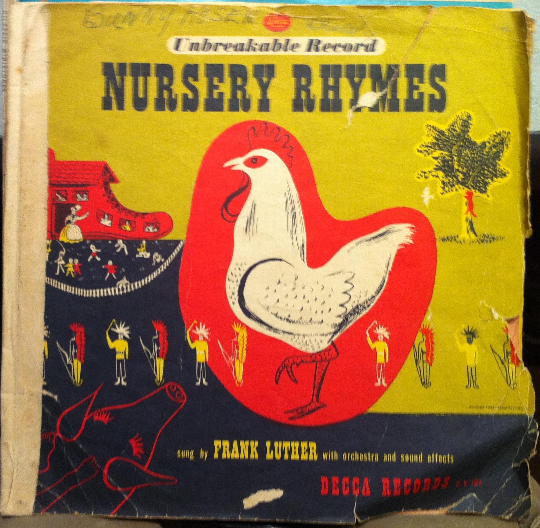 FRANK LUTHER Nursery Rhymes Mother Goose Songs 2 LP P DV