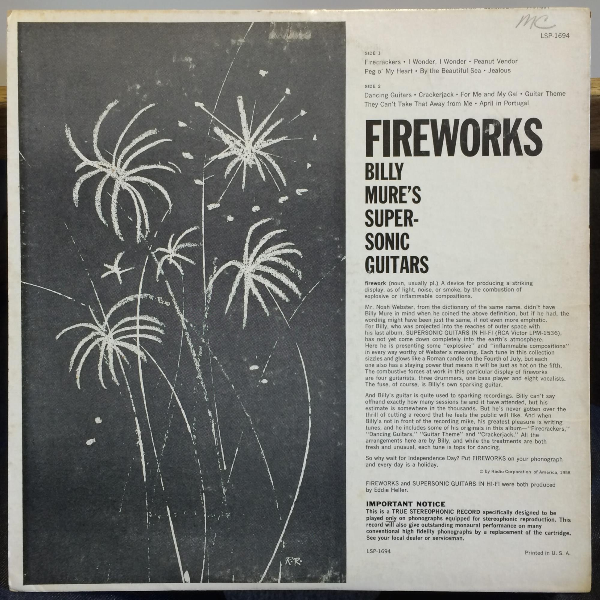 Billy Mure's Supersonic Guitars - Fireworks
