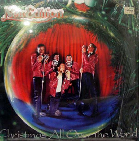 NEW EDITION - New Edition Christmas All Over The World Lp Vg+ Mca 39040 Vinyl 1985 Record (christmas All Over The