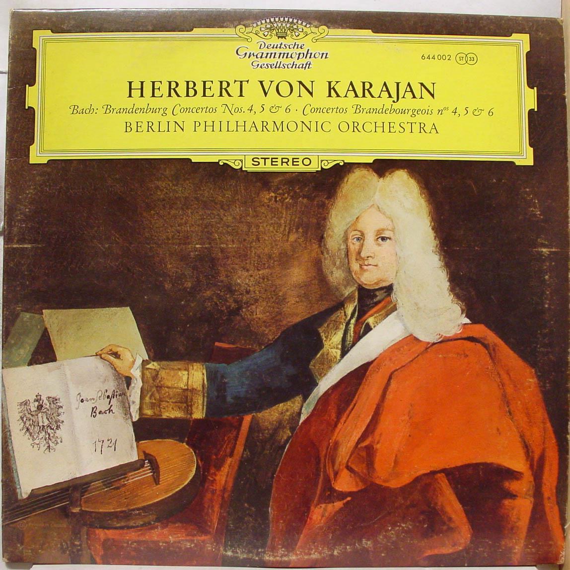 Herbert Von Karajan - Karajan Bach Brandenburg Concertos Nos 4, 5 & 6 Lp Vg+ 644 002 Canada (bach Brandenburg Concerto