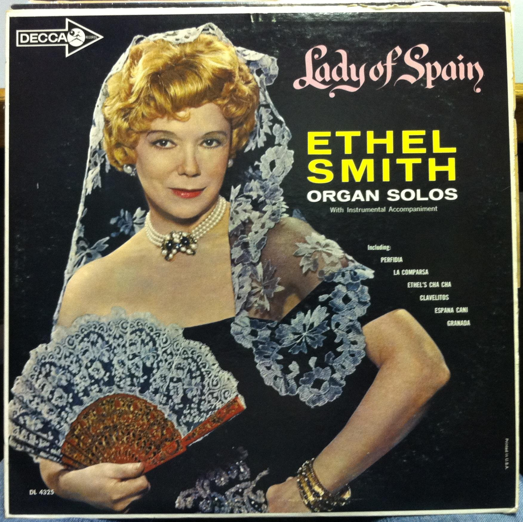 ETHEL SMITH - Ethel Smith Lady Of Spain Lp Vg+ Dl 4325 Vinyl Record (lady Of Spain)