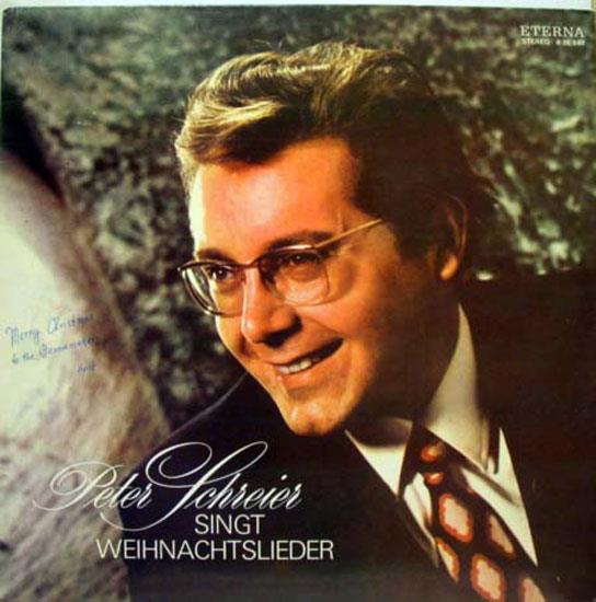 PETER SCHREIER - Peter Schreier Signt Wiehnachtslieder Lp Mint- 8 26 697 Vinyl 1975 Record (signt Wiehnachtslieder)