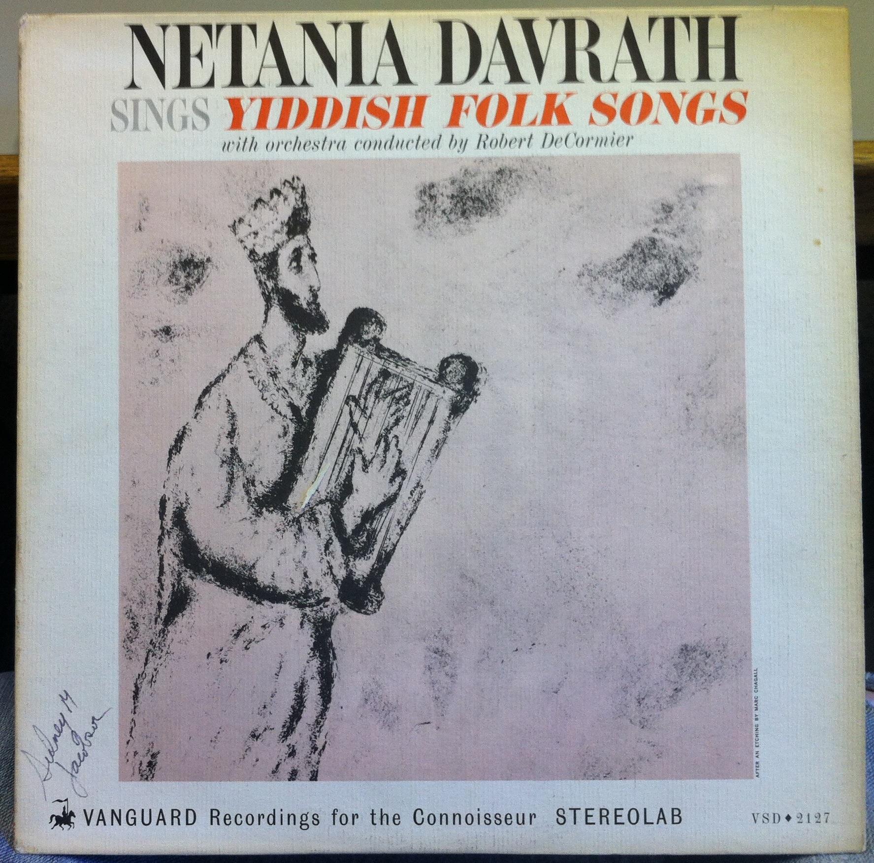 Sings Yiddish Folk Songs