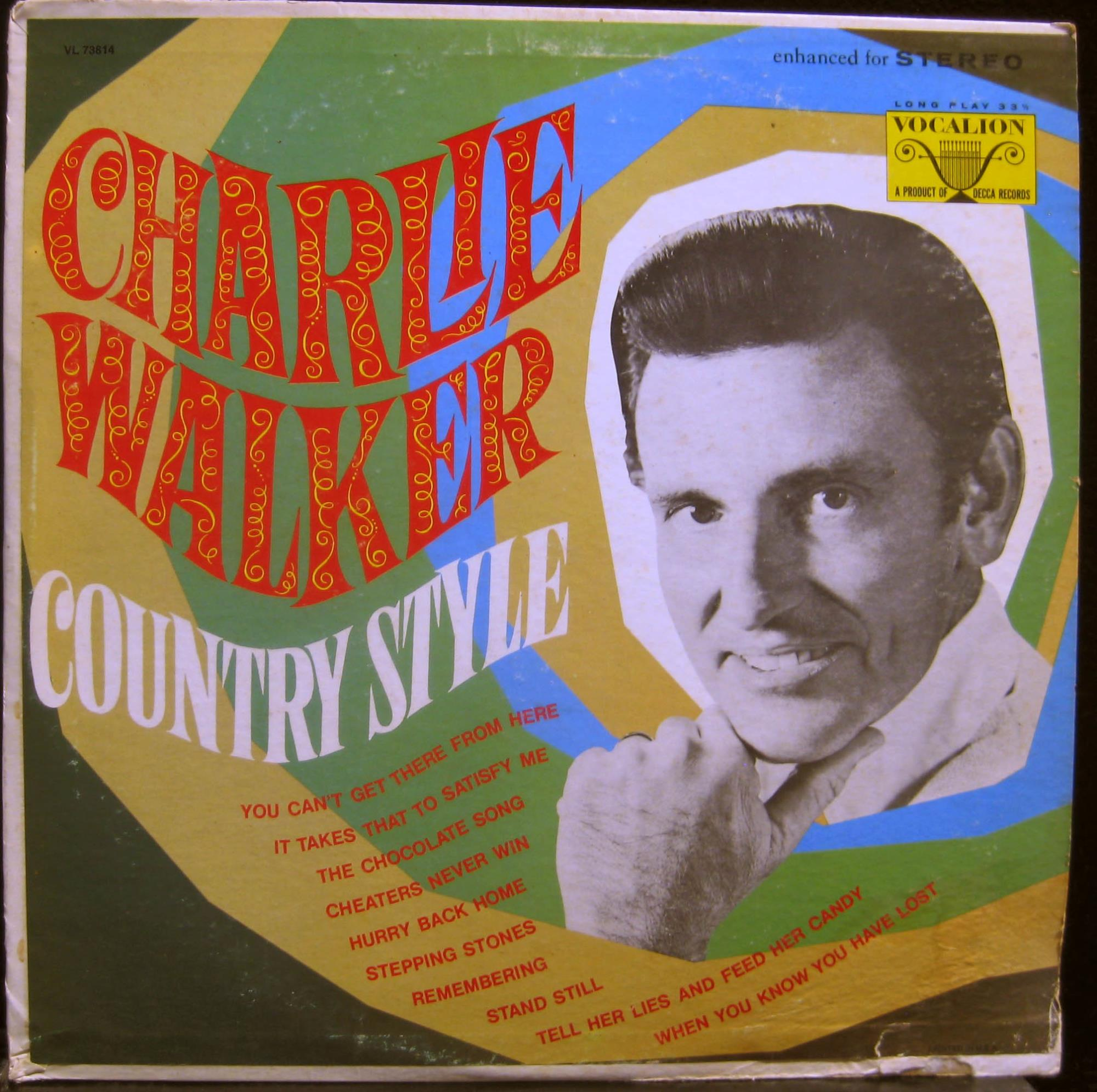 CHARLIE WALKER - Charlie Walker Country Style Lp Vg Vl 73814 Vinyl Record (country Style)