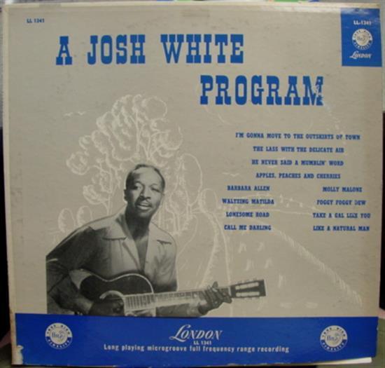 JOSH WHITE - Josh White The Program Lp Vg+ Ll 1341 Uk Ffrr Mono 1956 Folk (the Program)