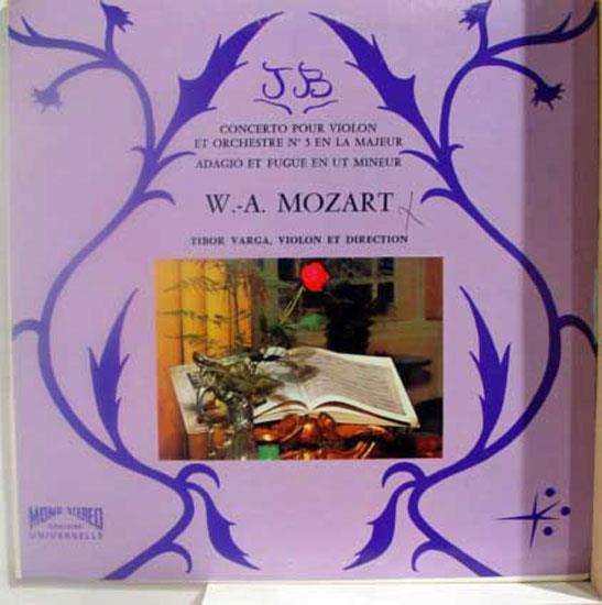 TIBOR VARGA - Tibor Varga Mozart Violin Concerto Lp Vg+ Oxford 30502 Vinyl Record (mozart Violin Concerto)