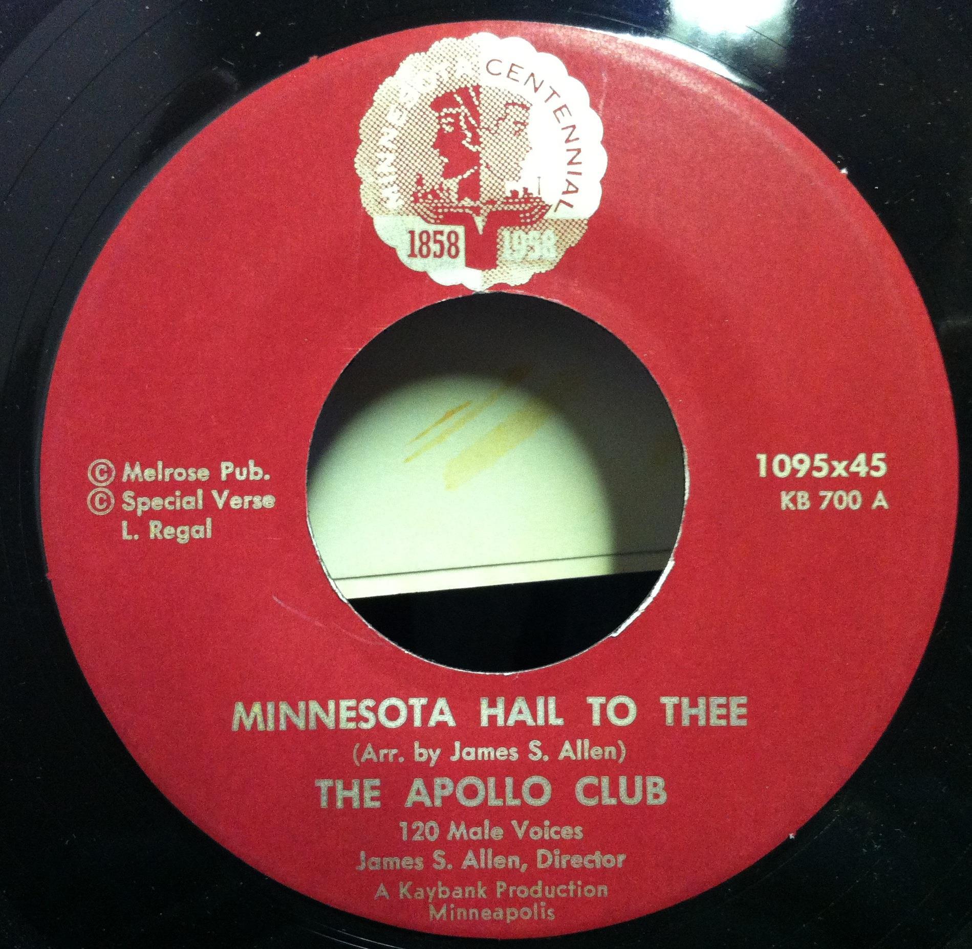 The Apollo Club Of Minneapolis Minnesota Hail To Thee 7