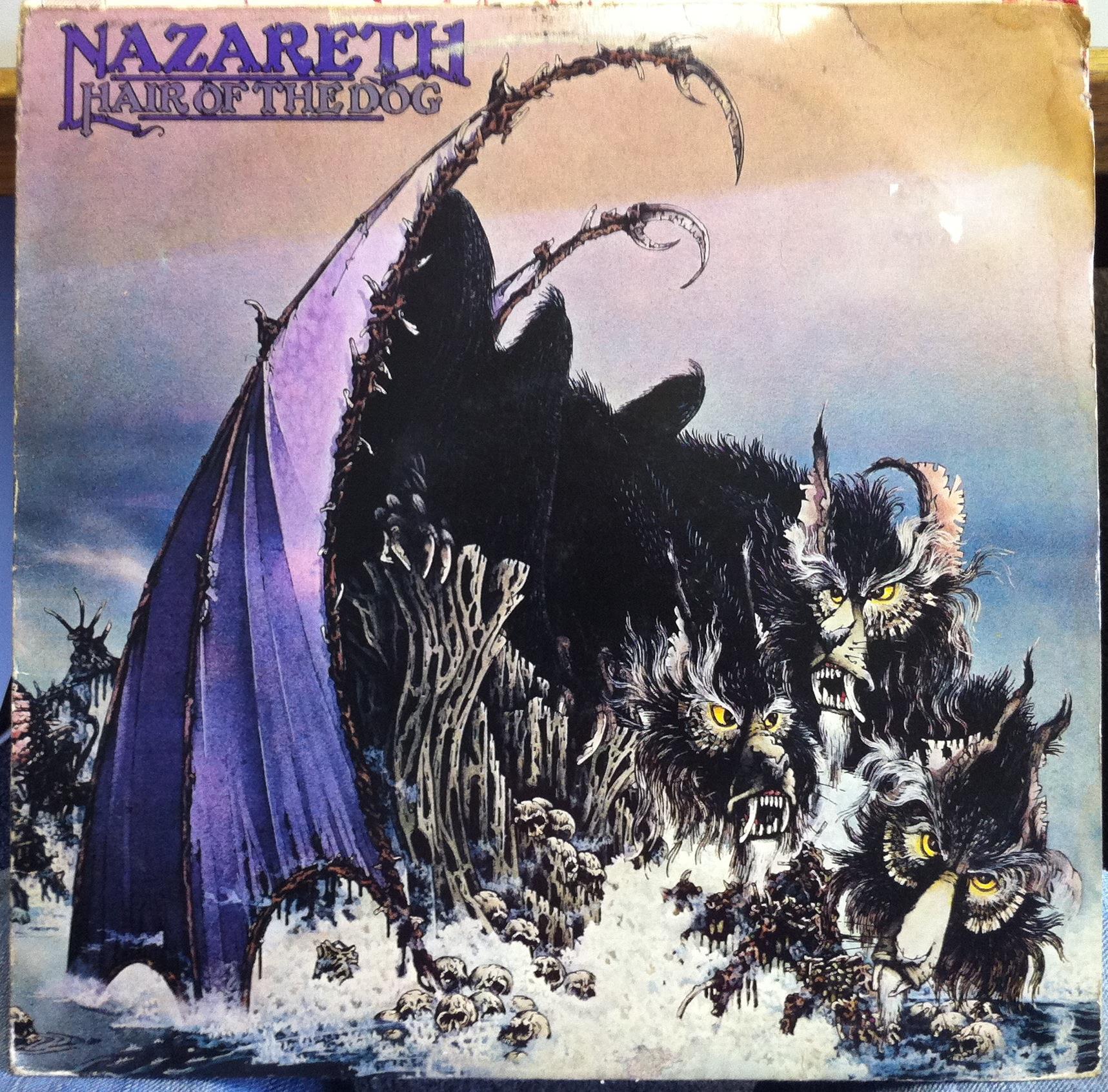 Nazareth Hair Of The Dog Lp Vg Nel 6024 Vinyl 1975 Uk