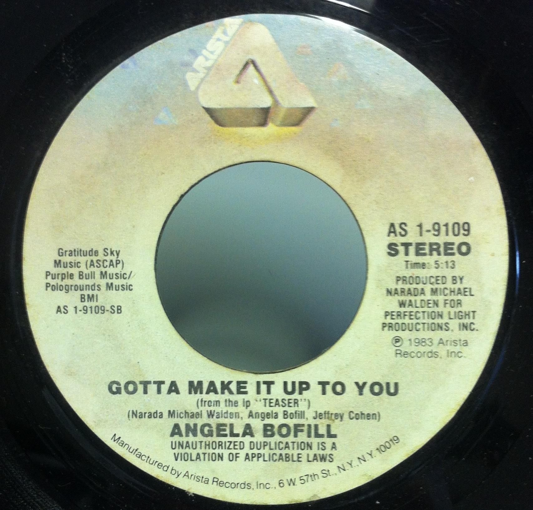 "Angela Bofill - Angela Bofill I'm On Your Side/gotta Make It Up To You 7"" Vg+ As-1-9109 Soul 45 (i'm On Your Si"