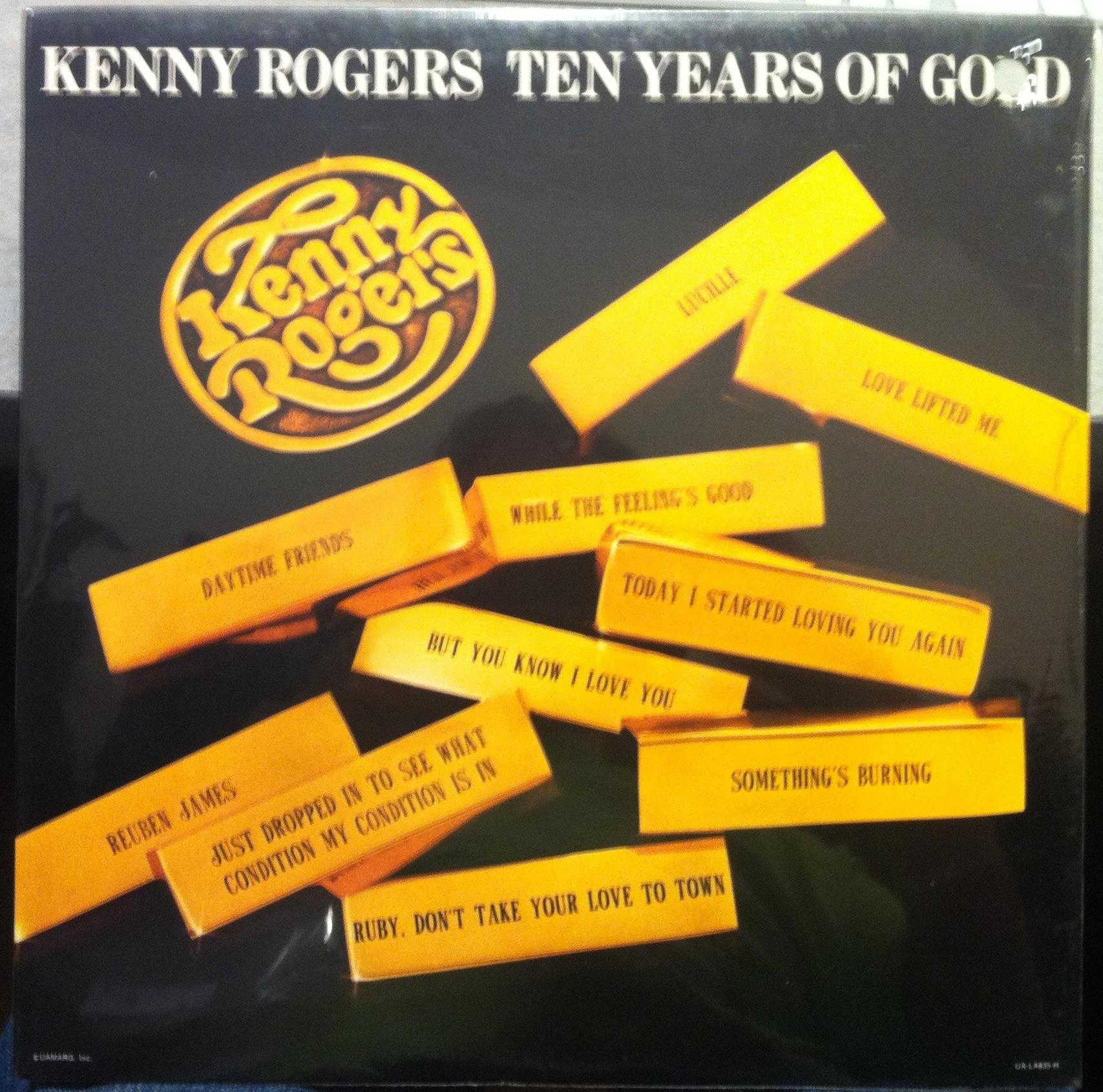 1977 Kenny Rogers Ten Years Of Gold Lp Sealed Ua