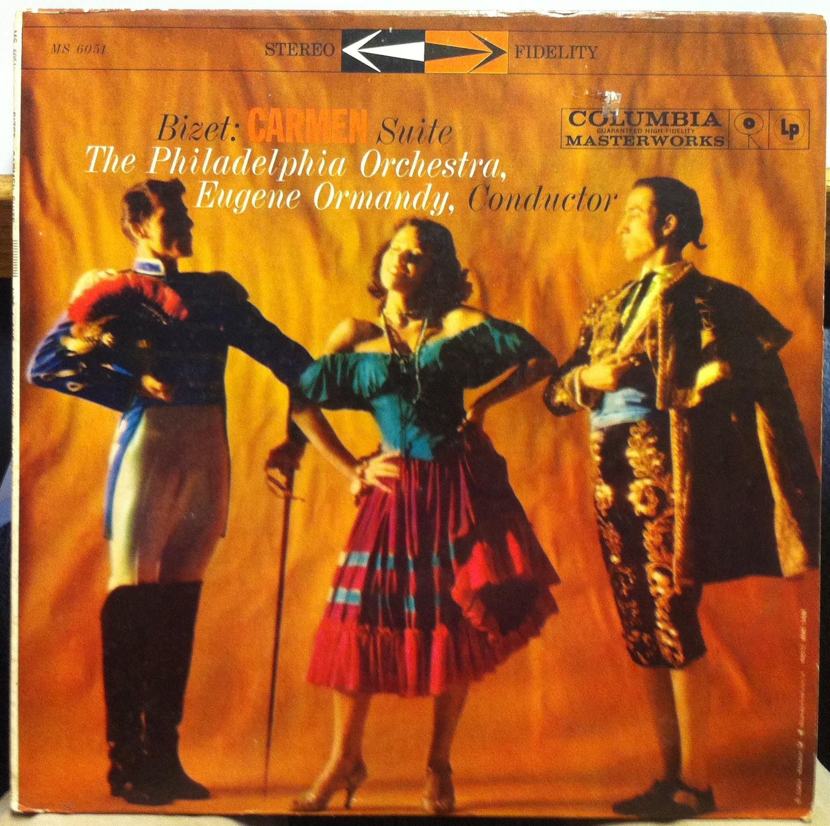 360 Label Stereo Cbs Eugene Ormandy Bizet Carmen Suite Lp Vg
