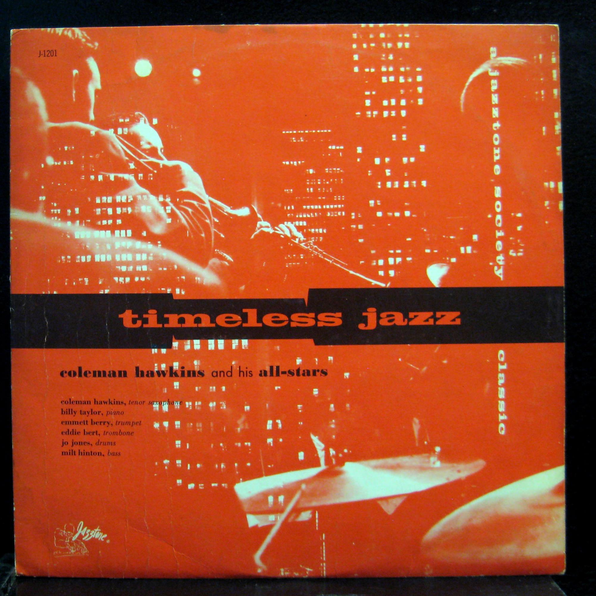 Coleman Hawkins All Stars Timeless Jazz Lp Vg J 1201 Mono