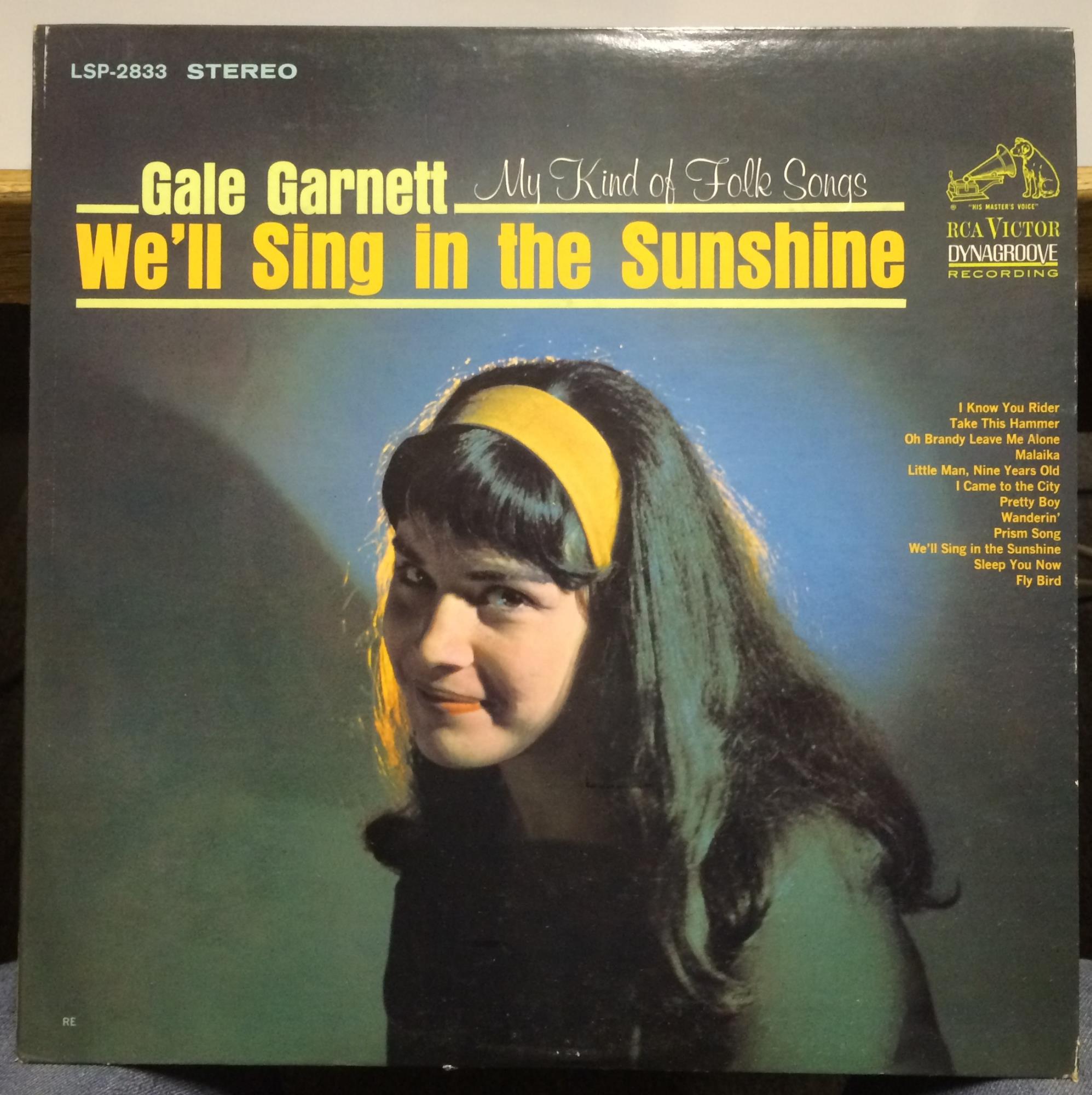 Gale Garnett My Kind Of Folk Songs Lp Vg Lsp 2833 Stereo