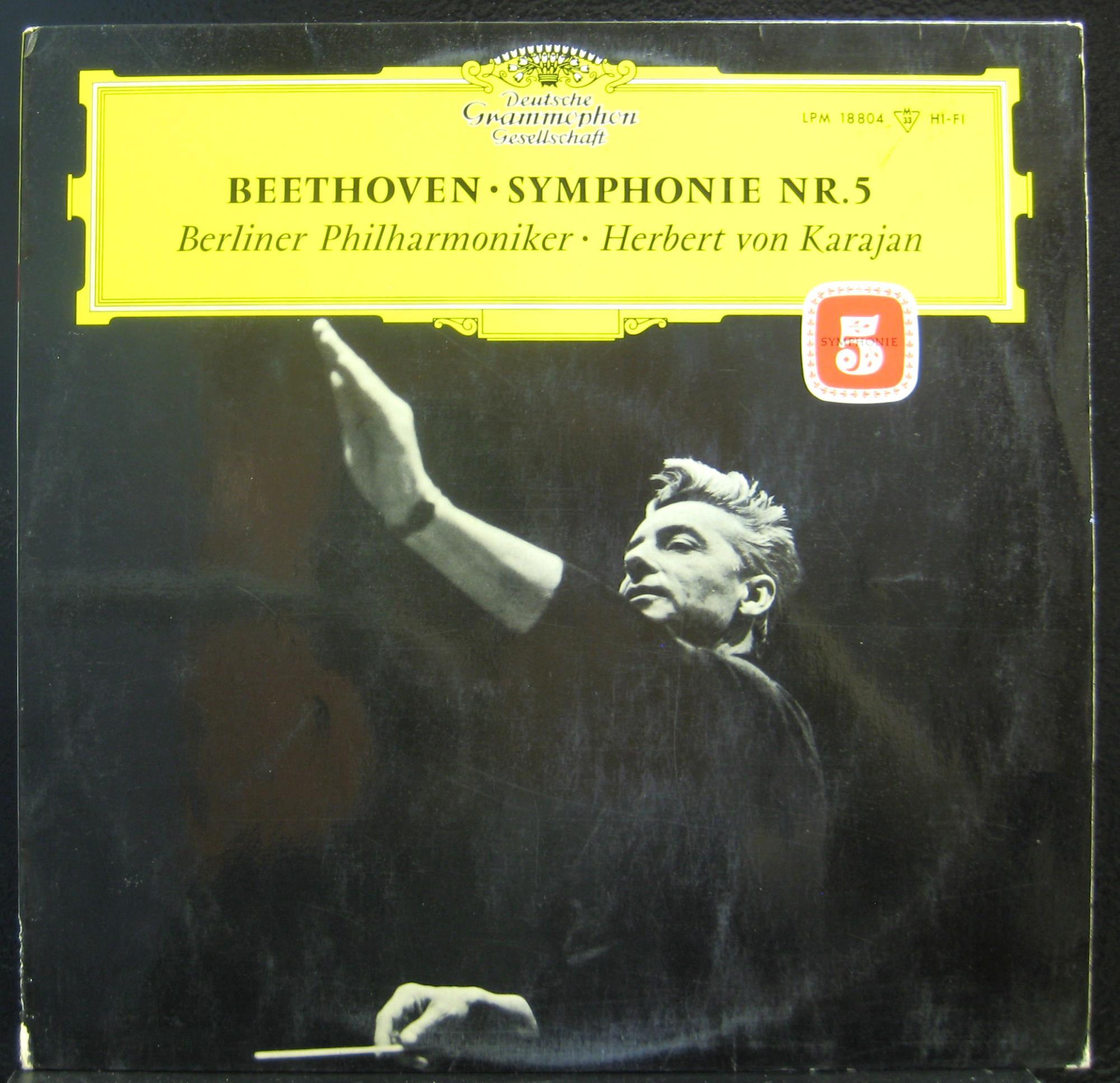 HERBERT VON KARAJAN - Karajan Beethoven Symphonie Nr. 5 Lp Mint- Lpm 18804 German Tulip Vinyl 1966 (beethoven Symphonie Nr
